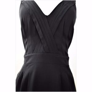 Rock & Republic Black Silk Dress Sleeveless Pocket